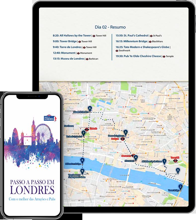 Roteiro do Mapa de Londres - Passo a Passo